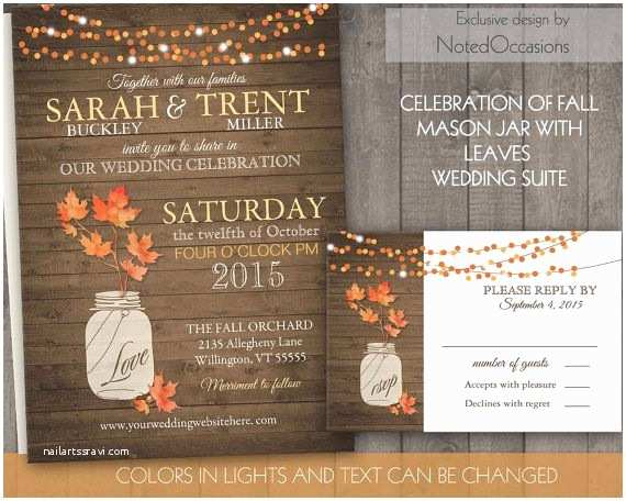 Cheap Halloween Wedding Invitations Emejing Elegant Fall Wedding Invitations