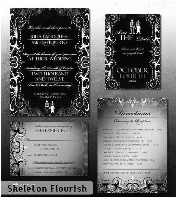 Cheap Halloween Wedding Invitations Halloween Wedding Invitation 19 Psd Jpg format