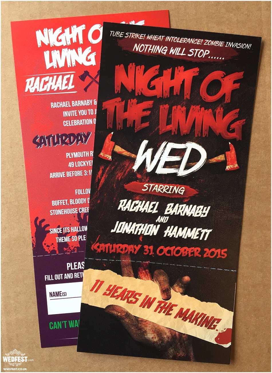 Cheap Halloween Wedding Invitations Halloween Wedding Invitations