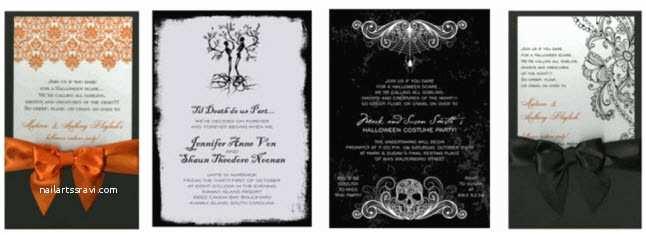 Cheap Halloween Wedding Invitations Halloween Wedding Invitations Template