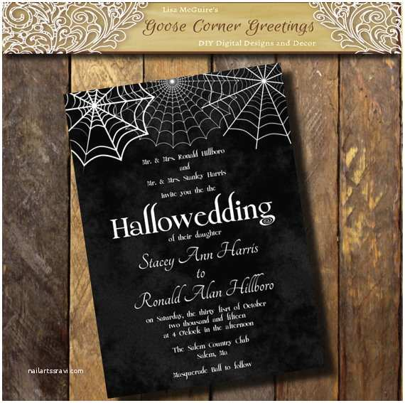 Cheap Halloween Wedding Invitations Printable Halloween Wedding Invitation