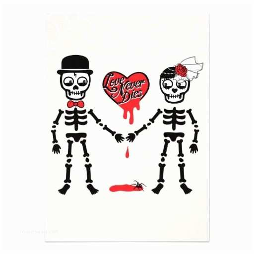 "Cheap Halloween Wedding Invitations ""love Never Dies"" Halloween Wedding Invitation"