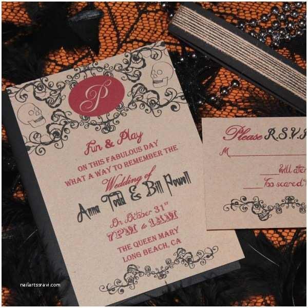 Halloween Wedding Invitations Templates Fall Halloween Wedding Invitations With