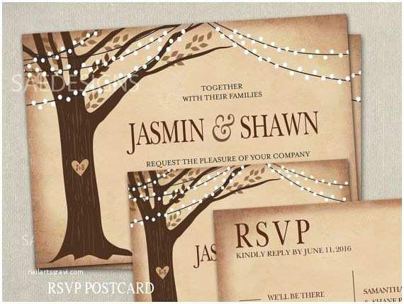 Cheap Halloween Wedding Invitations The 25 Best Tree Wedding Invitations Ideas On