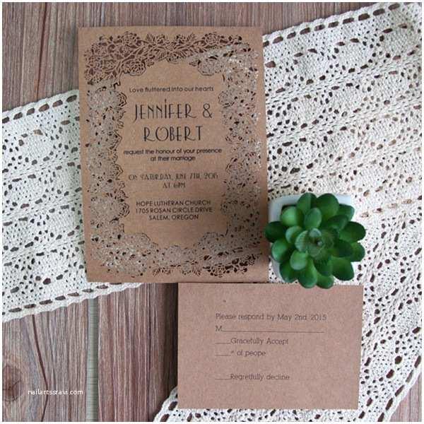 cheap blosssom laser cut wedding invitations efws003