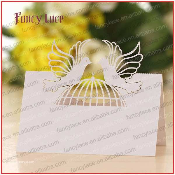 Cheap Love Bird Wedding Invitations 50pcs Hot Sale Love Bird Cage Shaped Wedding Decorations