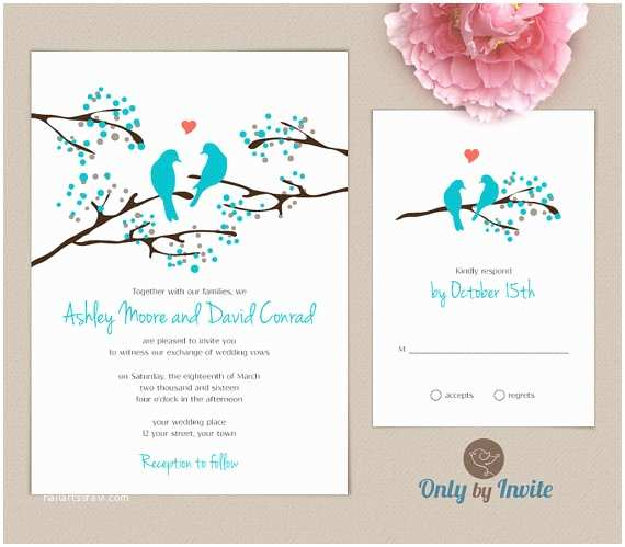 Cheap Love Bird Wedding Invitations Cheap Wedding Invitations and Rsvp Cards