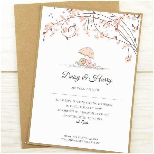 Cheap Love Bird Wedding Invitations Love Birds evening