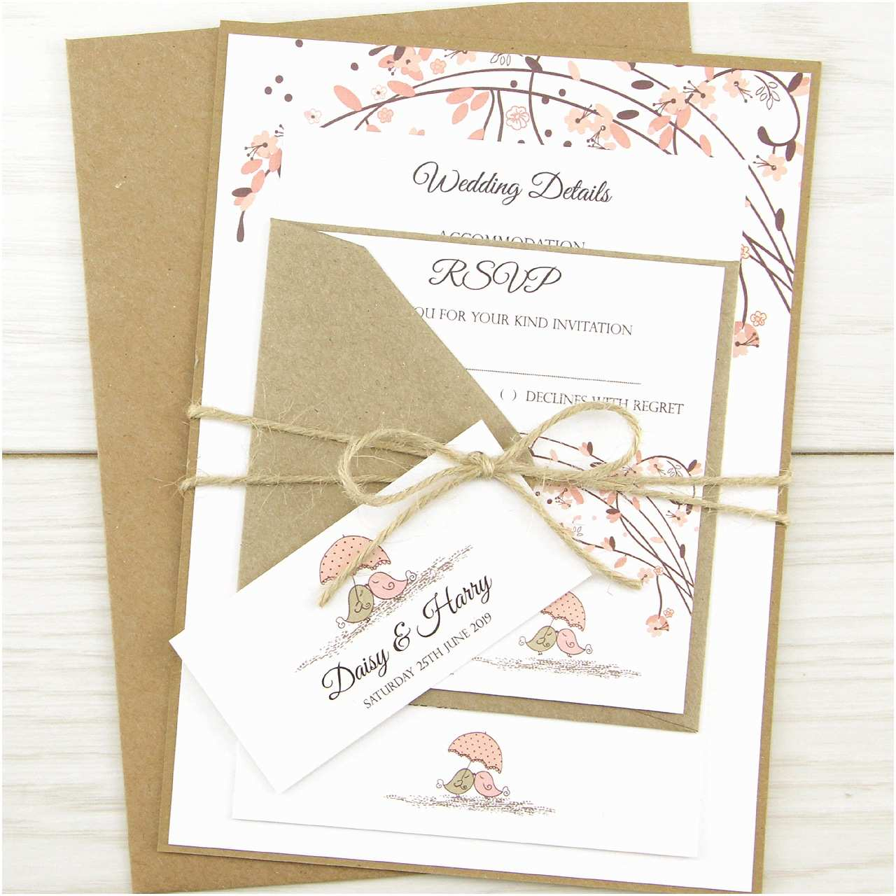 Cheap Love Bird Wedding Invitations Love Birds Parcel