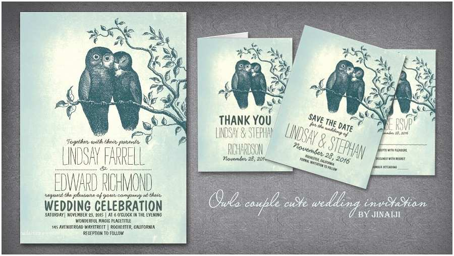 Cheap Love Bird Wedding Invitations Read More – Love Owl Couple Sweet Wedding Invitations