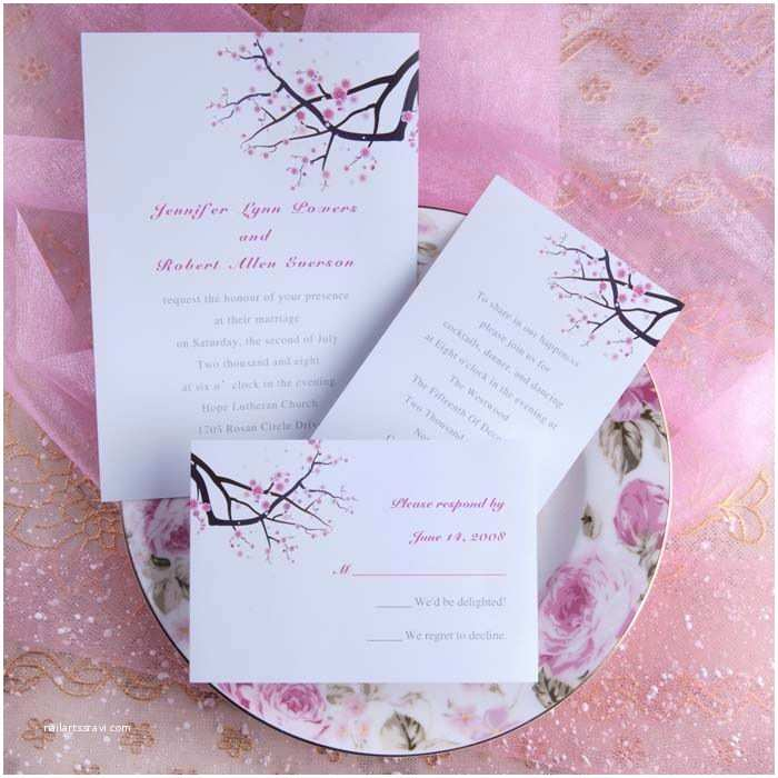 Cheap Love Bird Wedding Invitations Spring themed Wedding Invitations