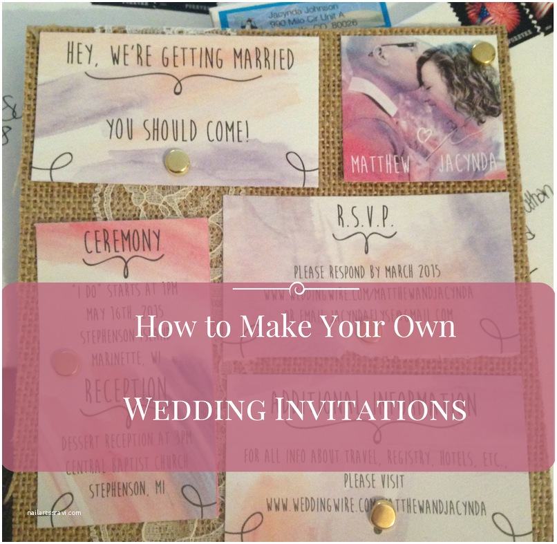 Cheap Make Your Own Wedding Invitations How to Make Your Own Wedding Invitations Driverlayer