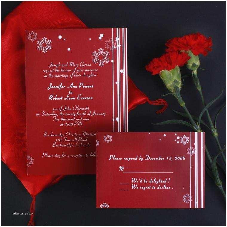 Cheap Nice Wedding Invitations Snowflake