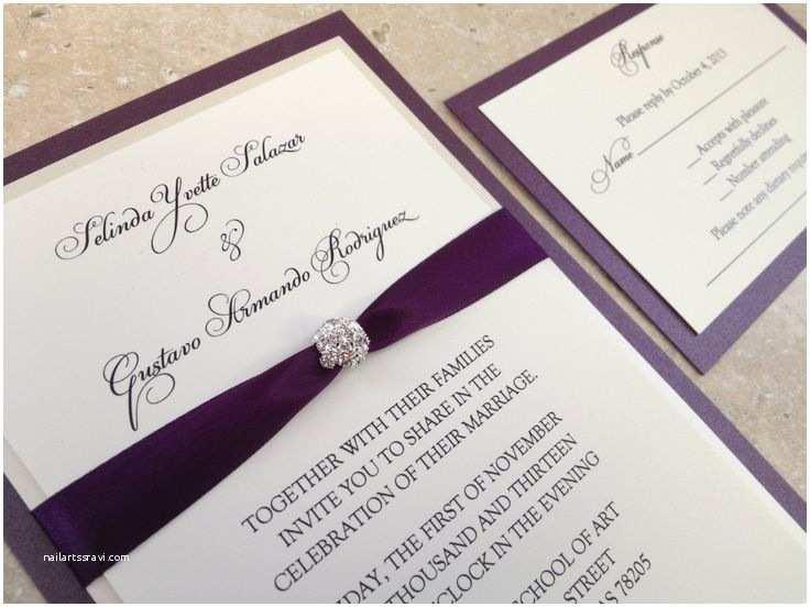 Cheap Plum Wedding Invitations 25 Best Ideas About Bling Wedding Invitations On