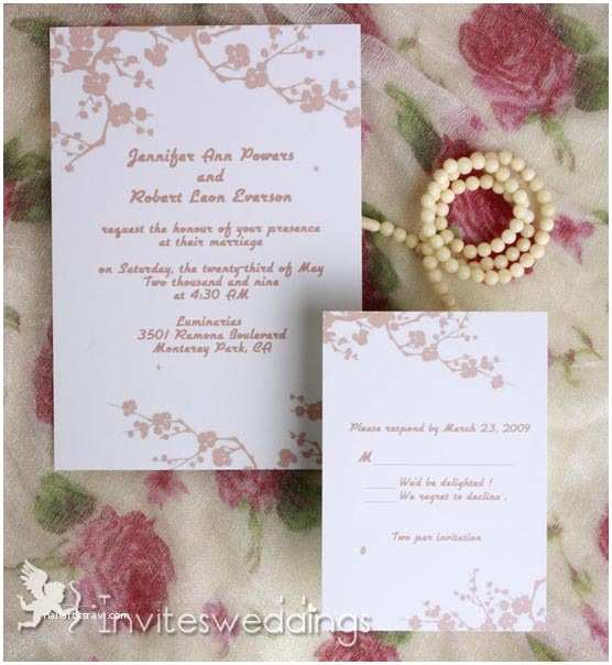 Cheap Plum Wedding Invitations Beautiful Pink Plum Blossom Wedding Invitations Iwi233