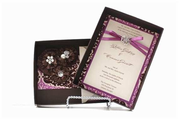 Cheap Plum Wedding Invitations Items Similar to Wedding Invitations Box Chocolate and