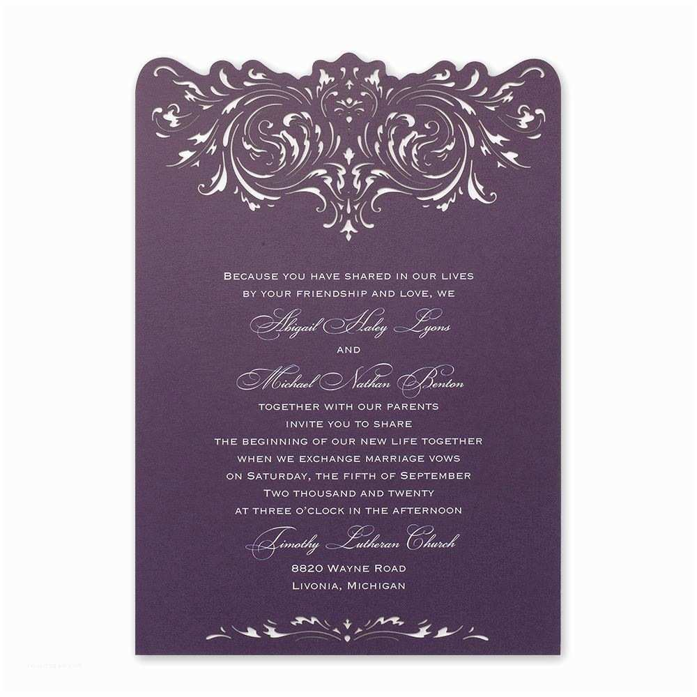 Cheap Plum Wedding Invitations Plum Wedding Invitations