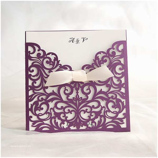 Cheap Plum Wedding Invitations Purple Wedding Invitations Cheap Invites at