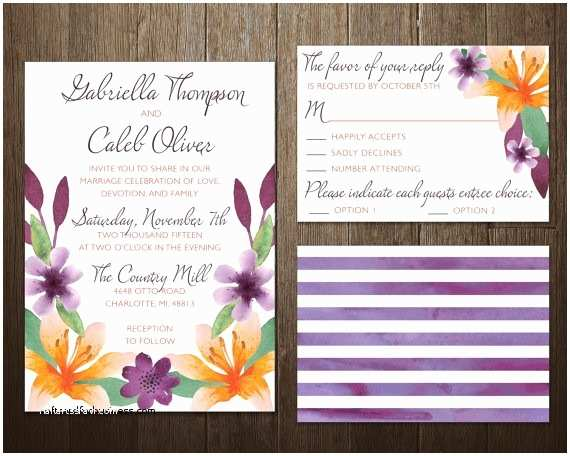 Cheap Plum Wedding Invitations Wedding Invitation Inspirational Plum and orange Wedding