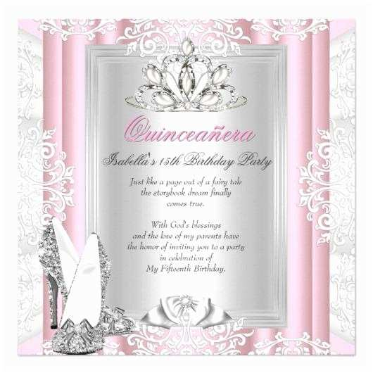 Cheap Quinceanera Invitations Birthday Party Quinceanera Invitation Cards Pink Shoes