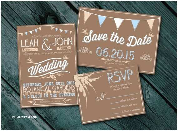 Cheap Rustic Country Wedding Invitations Items Similar to Rustic Wedding Invitation Package
