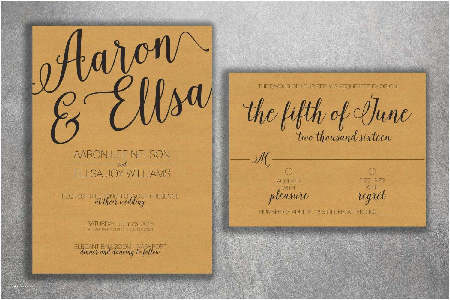 Cheap Rustic Country Wedding Invitations Kraft Rustic Wedding Invitations Set Printed Cheap Wedding
