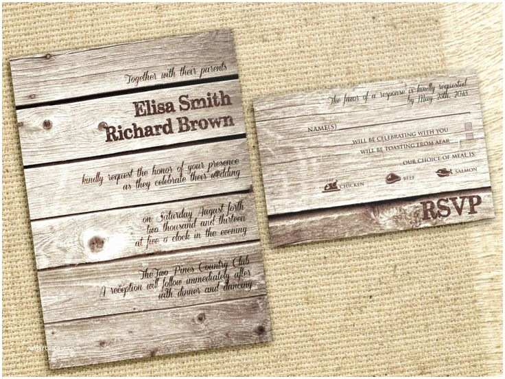 Cheap Rustic Country Wedding Invitations Rustic Wedding Invitations Cheap