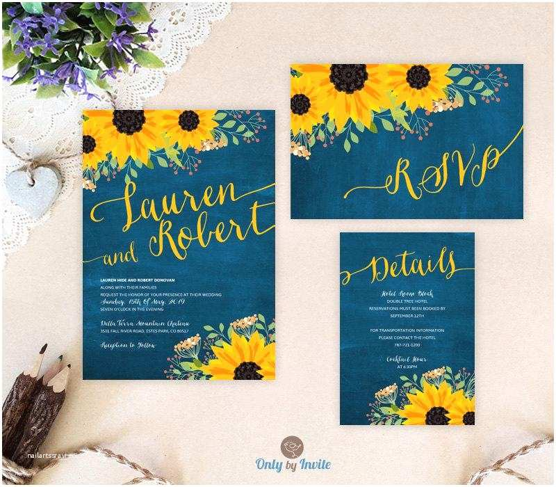 Cheap Rustic Country Wedding Invitations Sunflower Wedding Invitation Packages Invites Rsvp