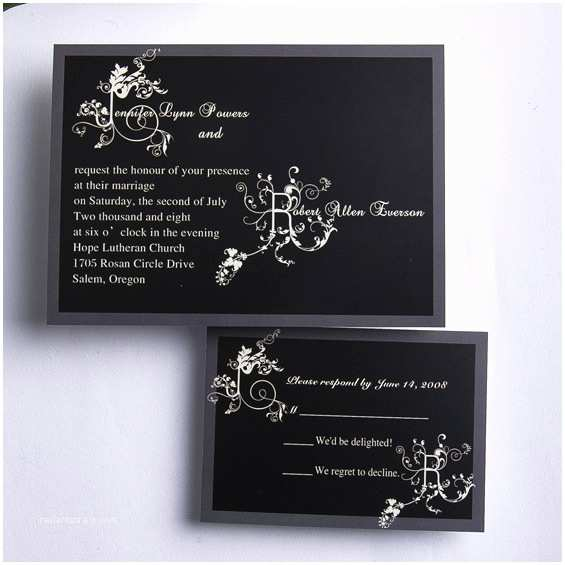 Cheap Wedding Invitation Cards Classic Black and White Affordable Wedding Invitation