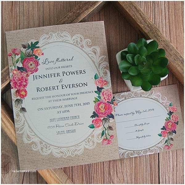 Cheap Wedding Invitation Ide Cheap Vintage Rustic Roses Wedding Invitations Ewi397