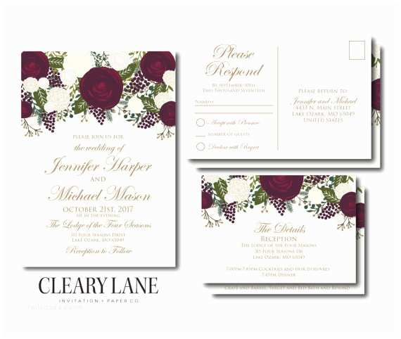 Cheap Wedding Invitation Sets Wedding Invitation Set Template Diy Wedding by Clearylane