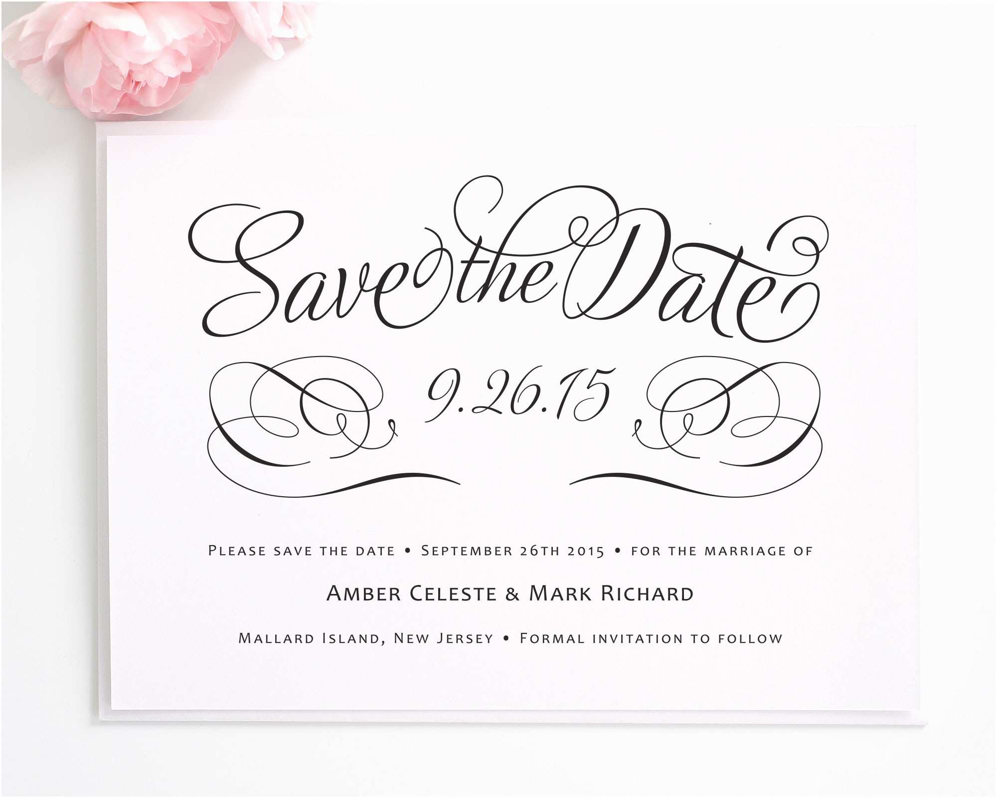 Cheap Wedding Invitations and Save the Dates Packages Charming Script Save the Date Cards Best Template