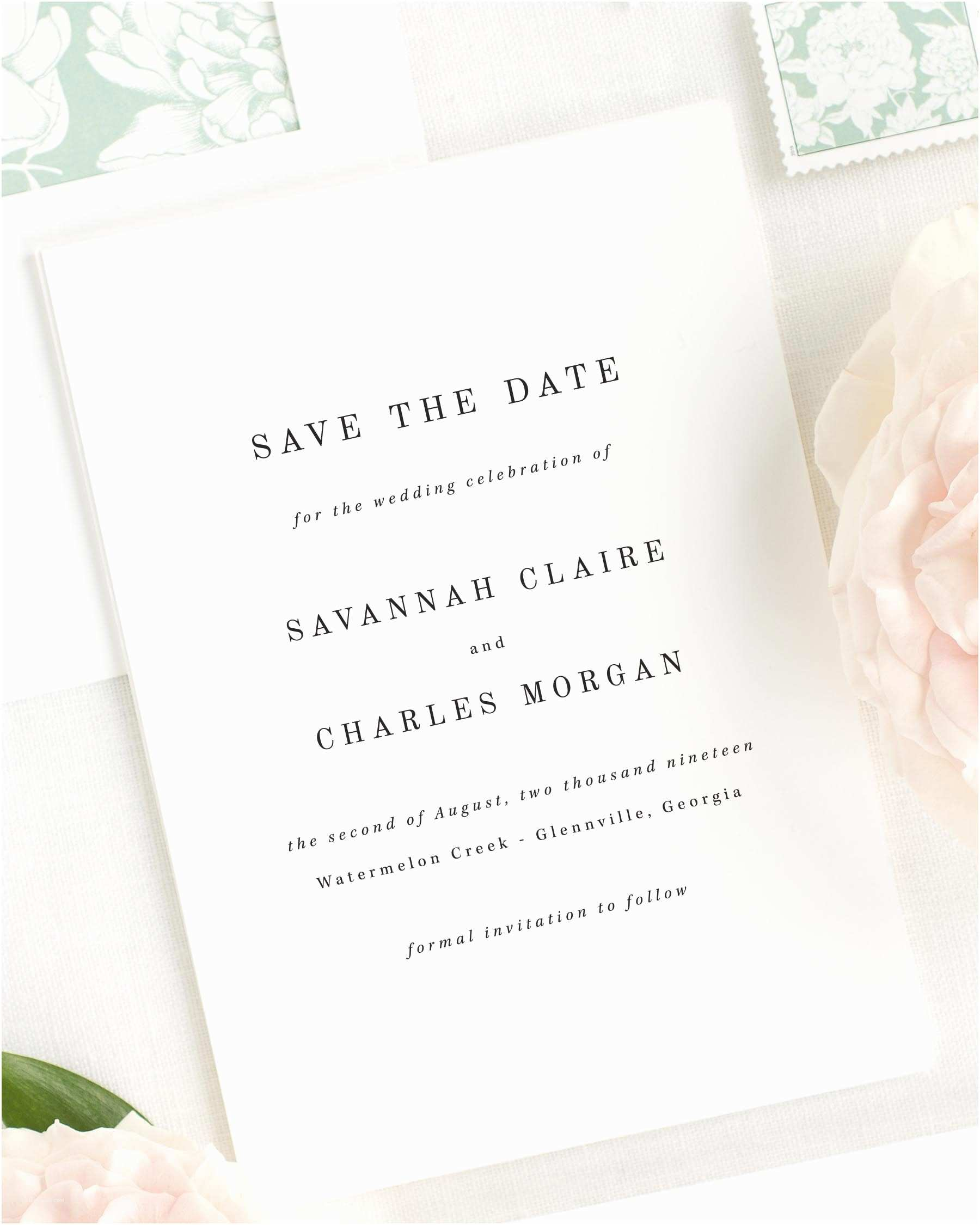 Cheap Wedding Invitations and Save the Dates Packages Savannah Save the Date Cards Save the Date Cards by Shine