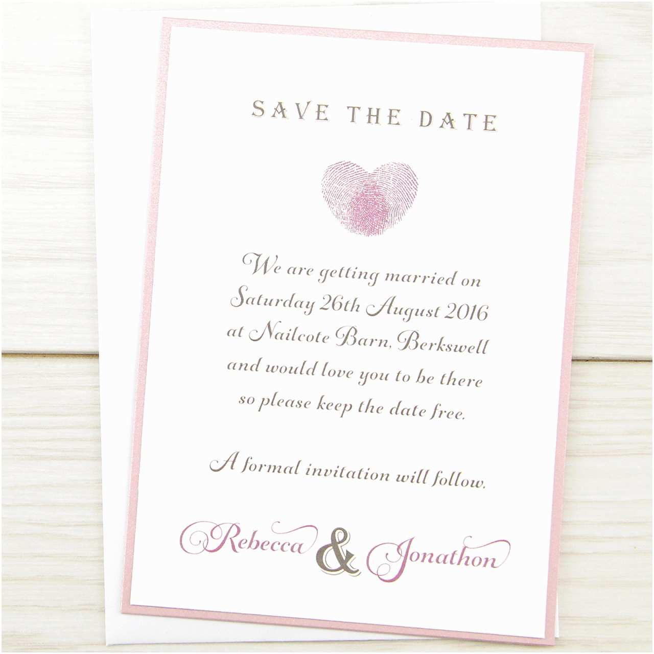 Cheap Wedding Invitations and Save the Dates Packages Thumb Print Save the Date