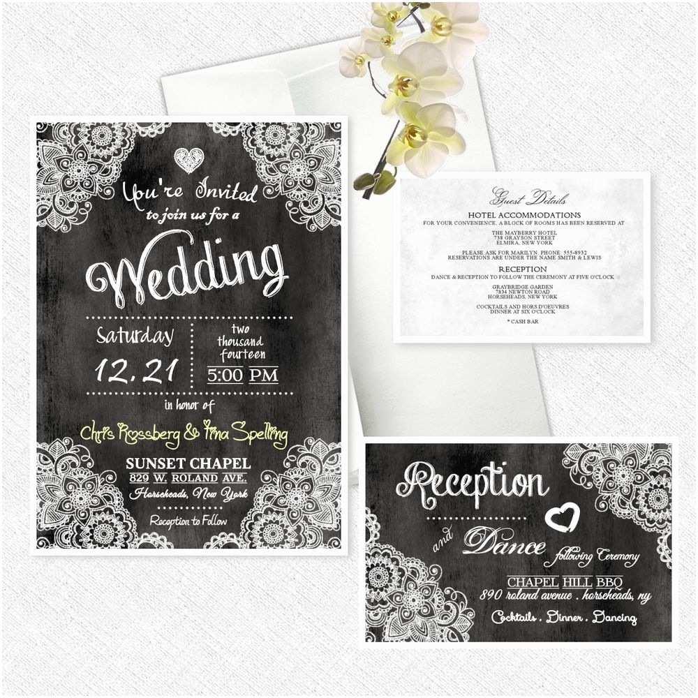 Cheap Wedding Invitations Ebay Chalkboard Invitations Template