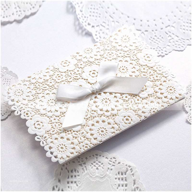 Cheap Wedding Invitations Ebay Laser Cut Out Floral Design Wedding Invitations Cards with