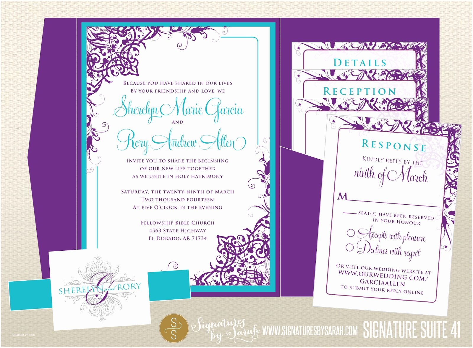 Cheap Wedding Invitations Ebay Wedding Invitations Purple and Turquoise