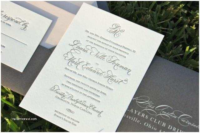 Cheap Wedding Invitations Mn Blush and Charcoal Wedding Invitations Letterpress