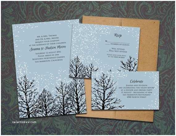 Cheap Wedding Invitations Mn Winter Magic Printable Wedding Invitation Template by Nraevsky