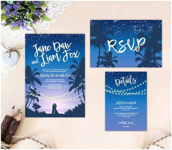 Cheap Wedding Invitations Packs Tropical Beach Wedding Invitations Destination Weddings