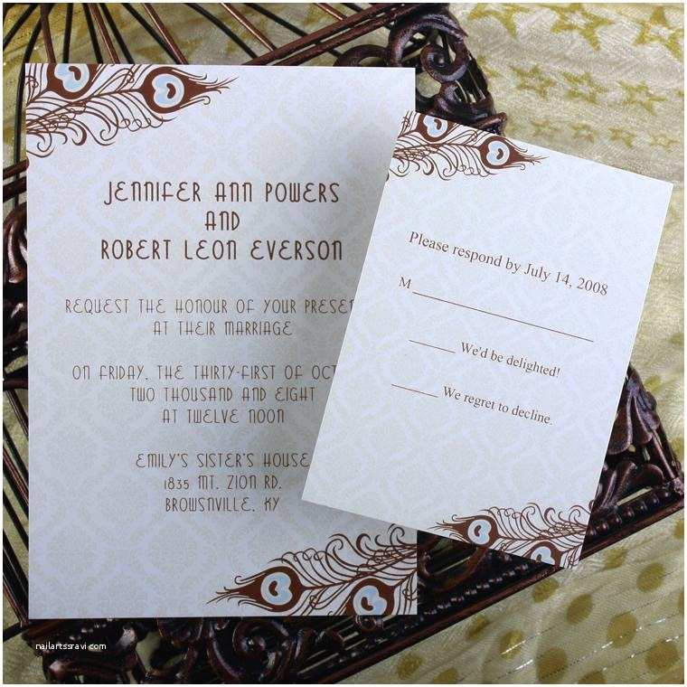 Cheap Wedding Invitations with Free Response Cards Cheap Peacock Wedding Invitations Line at