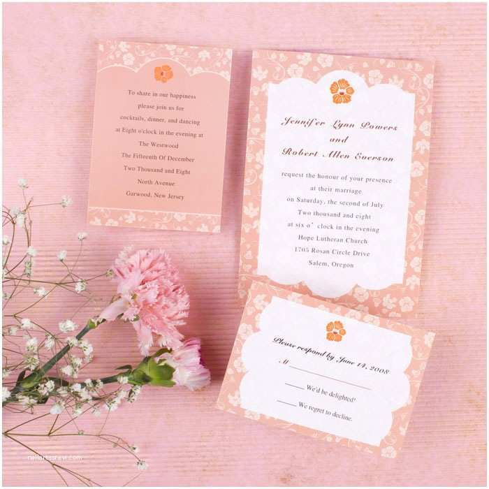 Cheap Wedding Invitations with Free Response Cards Elegant Coral Floral Wedding Invitation Ewi as Low with
