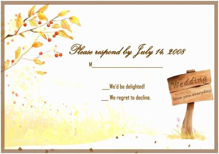 wedding invitations card ewi045 free country style gold rustic fall response card ewi045 good cheap wedding invitations with response cards 2