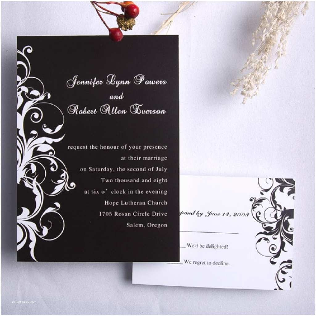 Cheap Wedding Invitations with Rsvp Cards Included Cool Ideas Cheap Wedding Invitations with Response Cards Best Design Black Background