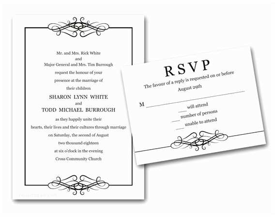 Cheap Wedding Invitations with Rsvp Cards Included Elegant Loops Wedding Invitations Set Printed Cheap Wedding Invitation Affordable Wedding