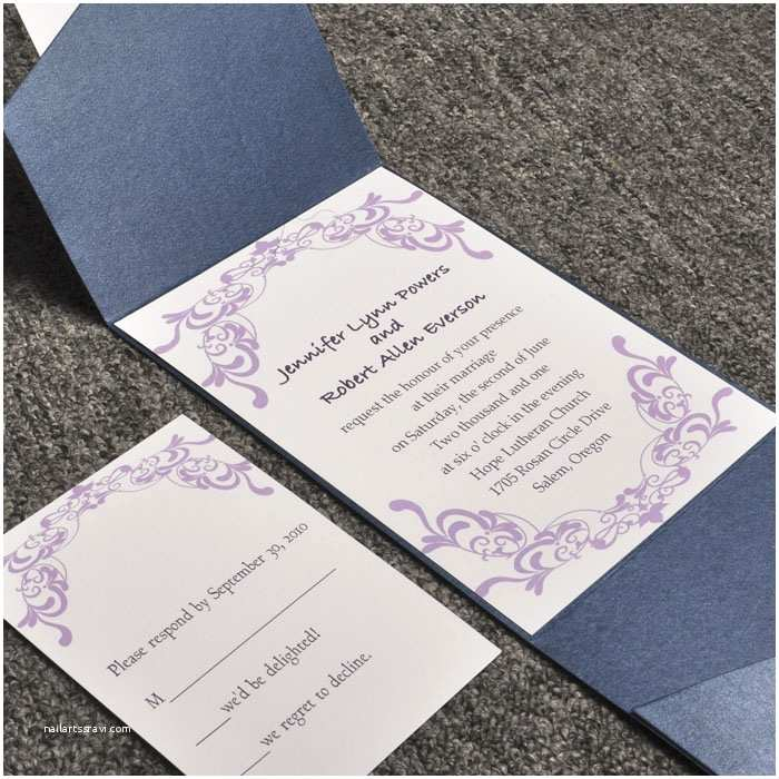 Cheap Wedding Invites with Response Cards Cheap Pocket Wedding Invitations From