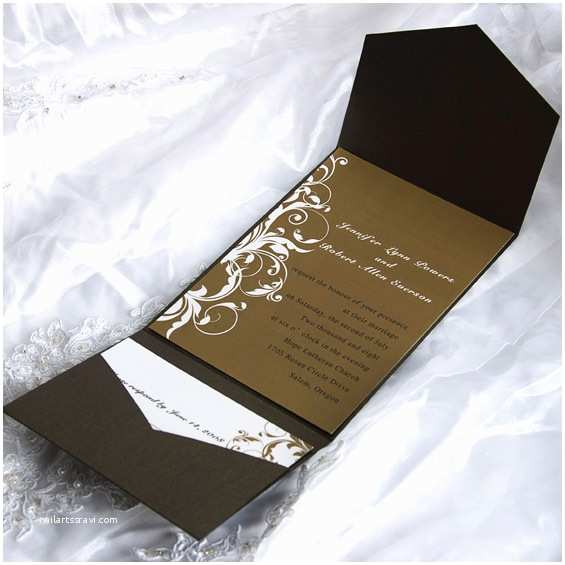 Cheap Wedding Invites with Response Cards Discount Pocket Wedding Invitations with Free Response