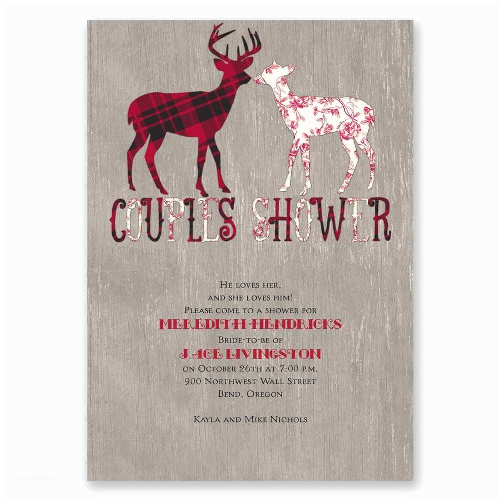 Cheap Wedding Shower Invitations Party Invitation Buck and Doe Wedding Shower Invitation