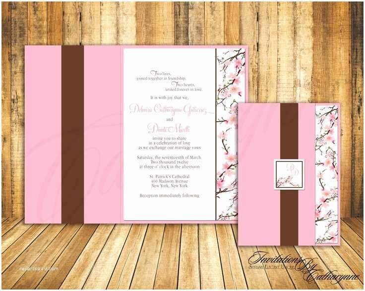 Cherry Blossom Wedding Invitations 27 Best Cherry Blossom Invitations Images On Pinterest