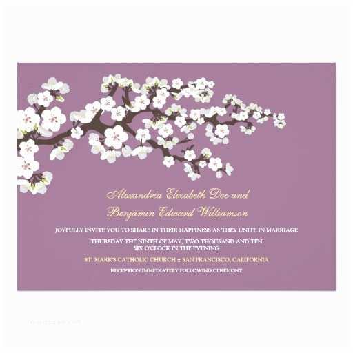 Cherry Blossom Wedding Invitations Cherry Blossoms Wedding Invitation